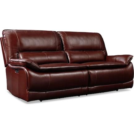 Aston Dual-Power Reclining Sofa - Brown