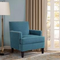 astrid blue accent chair