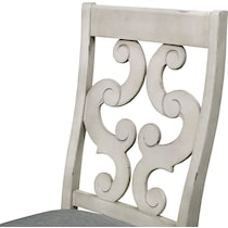 athena dining white side chair