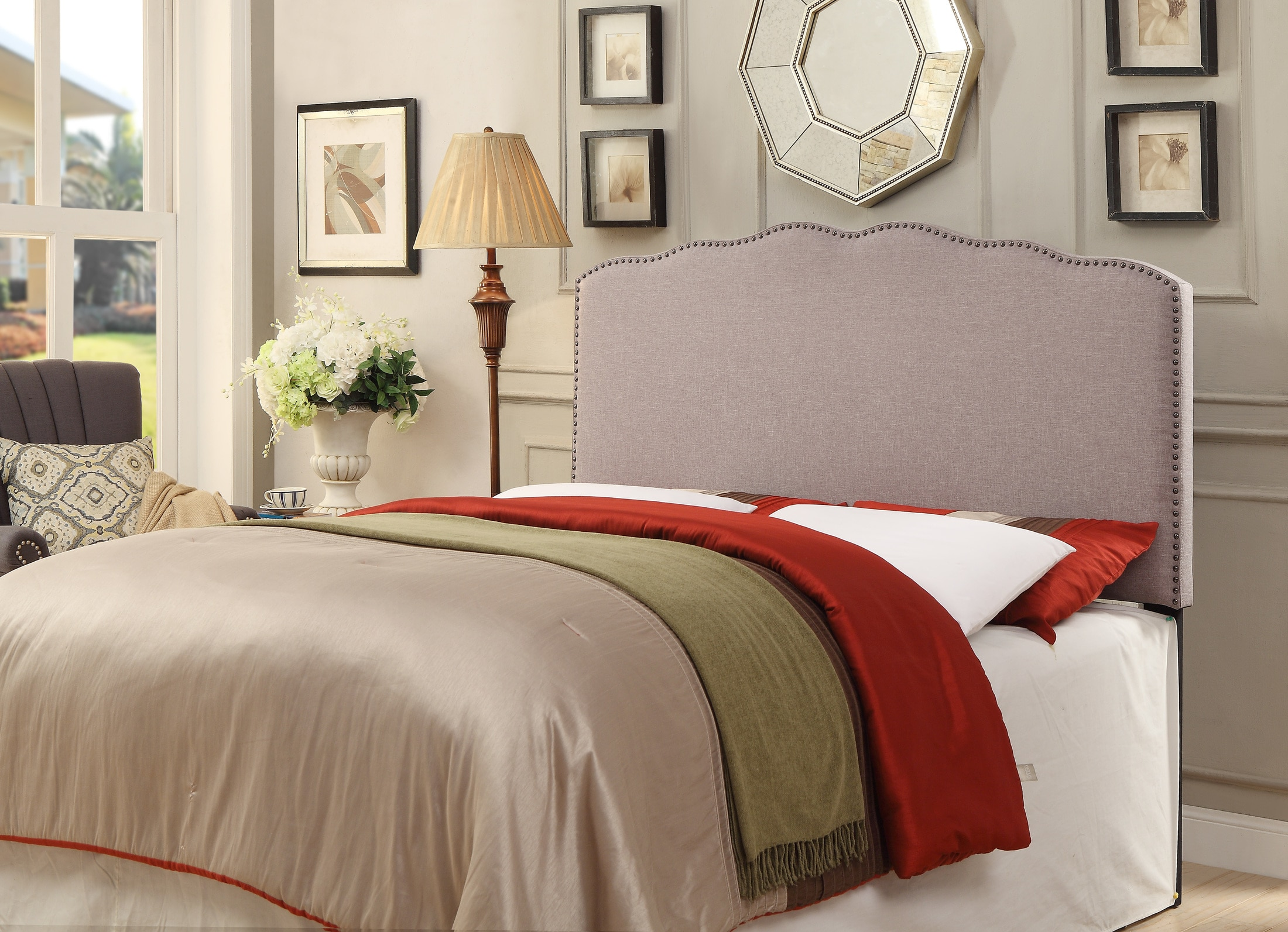 Bedroom Furniture - Aubrey Queen Upholstered Headboard
