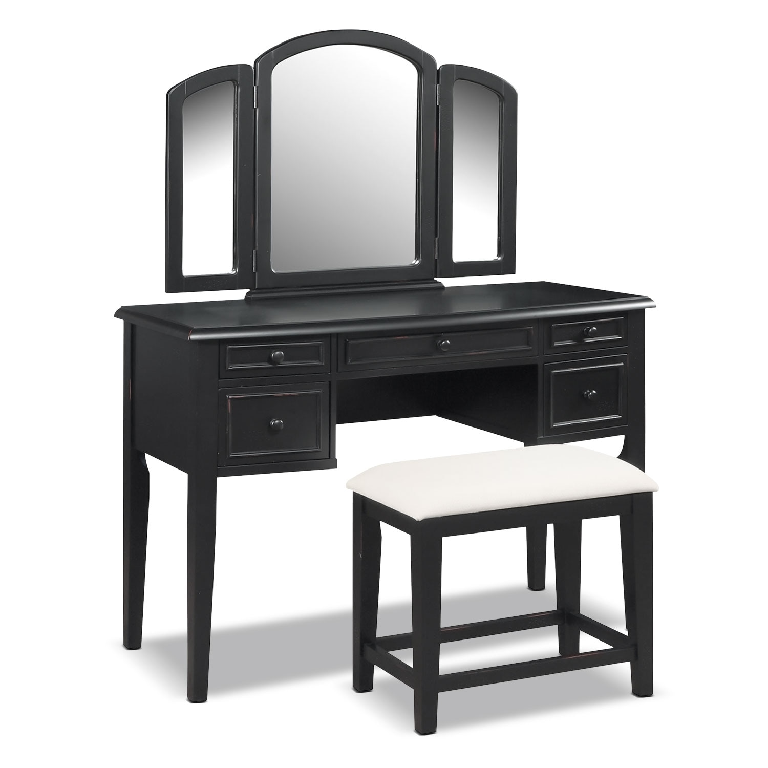Accent and Occasional Furniture - Audrina Vanity with Stool