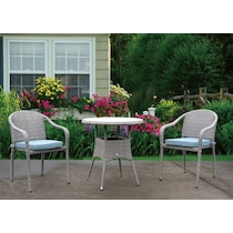 augusta light brown outdoor dinette
