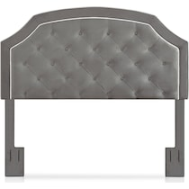 aurora gray king headboard