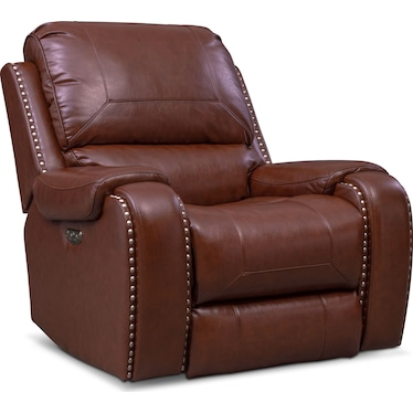 Austin Dual-Power Recliner - Brown
