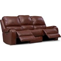 austin dark brown power reclining sofa