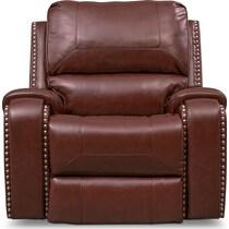 austin dark brown recliner