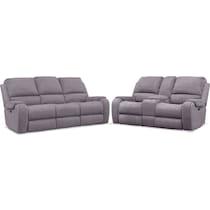 austin gray  pc power reclining living room
