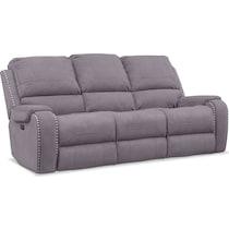 austin gray power reclining sofa