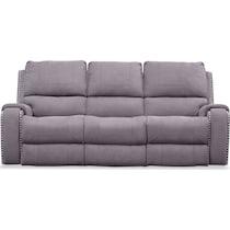 austin gray reclining sofa