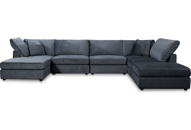 ava blue  pc sectional