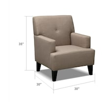 avalon light brown accent chair