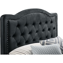 avery black queen upholstered bed