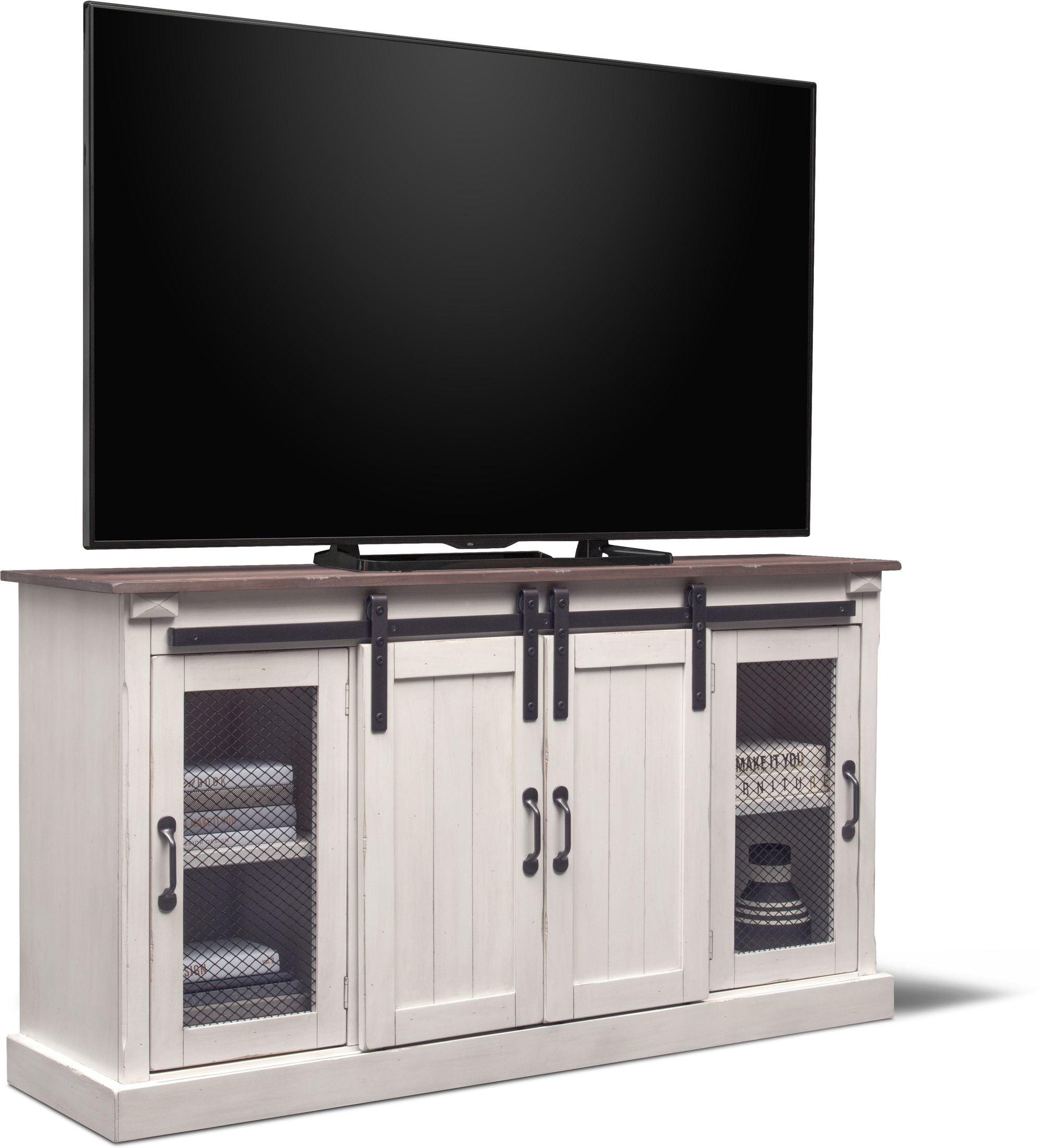 "Entertainment Furniture - Barn Door 65"" TV Stand"
