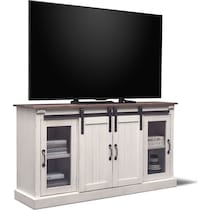barn door white tv stand