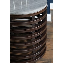 barney gray side table