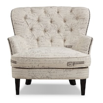 bayfield light brown accent chair