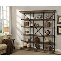 bedford home office light brown bookcase