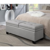 bella marmor gray storage bench