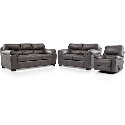 Bennett Sofa, Loveseat and Recliner