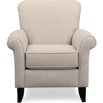 berkeley white accent chair