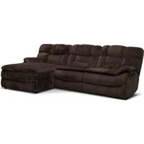 big softie dark brown  pc power reclining sectional