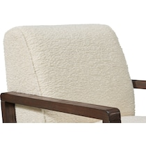 big sur white accent chair