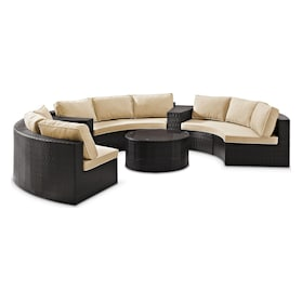 Huntington 5-Piece Outdoor Sectional and Coffee Table Set