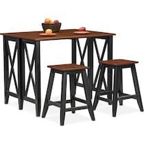 black and cherry  pc counter height dining room