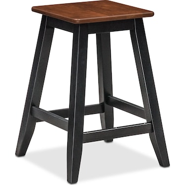 Nantucket Counter-Height Stool - Black and Cherry
