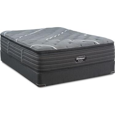 BRB C-Class Plush Pillow Top Queen Mattress and Foundation
