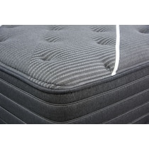 black queen mattress low profile foundation set