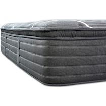 black queen mattress low profile foundation set