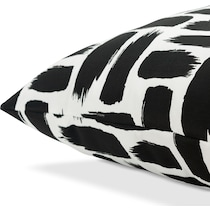 bondi black white outdoor pillow