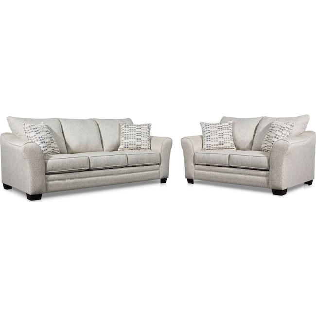 Living Room Furniture - Braden Sofa and Loveseat Set