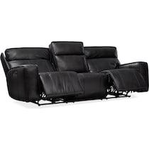 bradley black power reclining sofa