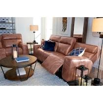 bradley dark brown  pc power reclining living room