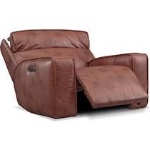 bradley dark brown power recliner