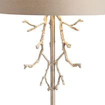 branches black silver table lamp