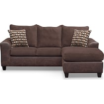 brando chocolate dark brown  pc sectional with chaise