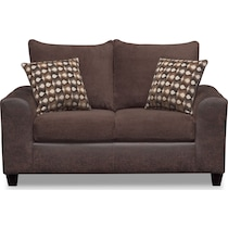 brando chocolate dark brown loveseat