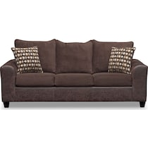 brando chocolate dark brown sofa