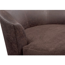 brando chocolate dark brown swivel chair
