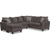 brando sectional smoke gray  pc sectional