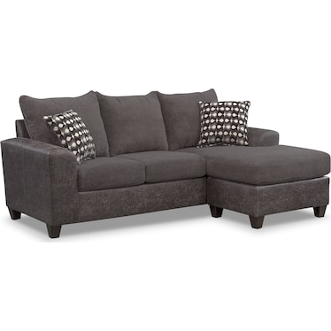 Brando 2-Piece Sofa with Chaise - Smoke