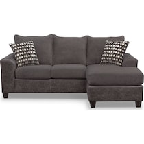 brando smoke gray  pc sectional with chaise
