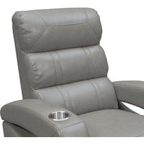 bravo gray gray power recliner