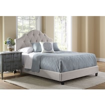 brigid cream queen bed