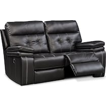 brisco black manual black manual reclining loveseat