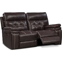 brisco brown power brown power reclining loveseat