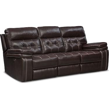 Brisco Power Reclining Sofa - Brown